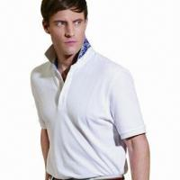 China Men's T-Shirt with High-quality Refined Cotton, OEM Orders Accepted on sale