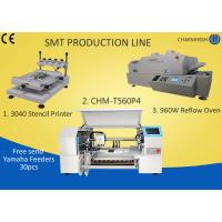 Buy cheap 3040 Stencil Printer + 4 Heads 60 Feeders Pick and place Machine + T960W Reflow Oven , SMT Batch product