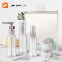 Best 9pcs PET Lotion Spray Travel Toiletry Bottle Kit For Personal Care Customized Color wholesale