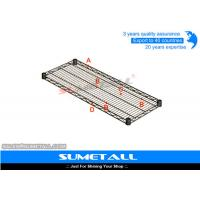Eco Friendly Wire Storage Shelves , Steel Warehouse Industrial Wire Shelving