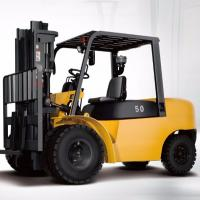 Best 4 Wheel Diesel Forklift Truck 5 Ton 2240mm Turning Radius With Pneumatic Solid Tyre wholesale