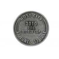 China Iron / Brass Custom Engraved Coins , Shiny / Matte Finishing Custom Silver Coins on sale