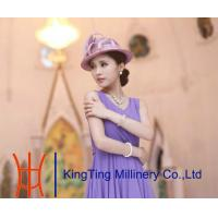 Best Purple Red Fashion Women Ladies Sinamay Hats for Summer Autumn wholesale