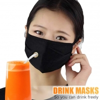 Buy cheap ready to ship new drink face mask with drink hole and opening for drinking from wholesalers