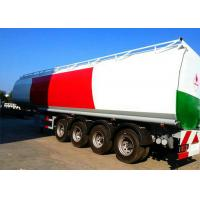 Best 4 Axle 60K Liter Diesel Tank Semi Trailer With First Axle Lifting Aire Bag Spring wholesale