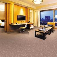 China 100 Polypropylene PVC Commercial Flooring , Plush Cut Pile Carpet on sale