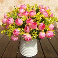 China UVG Cheap Wholesale Artificial Flowers Buy from Alibaba Fabric Indian Rose Flower on sale