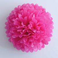 Best Hot Pink Party Decoration Paper Flower Tissue Paper Pom Poms Balls Craft wholesale