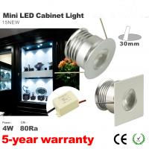 Best Mini 4W LED wine cabinet showcase lighting LED Recessed light 12V DC/AC, 85-277VAC wholesale