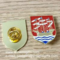 Best Sailing boat enamel lapel pin with color filled, butterfly clasp enamel lapel pins, wholesale
