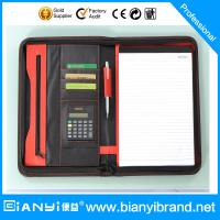 Best A4 zipper PU leather portfolio with mutiple functions wholesale