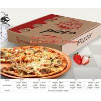 Best Carton corrugated paper pizza delivery box,bio-degradable high quality chinese food products custom kraft paper pizza pa wholesale