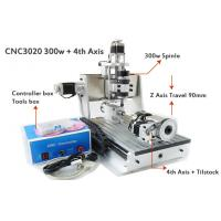 China 4 Axis Z Axis Travel 90mm Mini CNC Router Drilling Milling Machine / 3D CNC Router Engraving Machines on sale