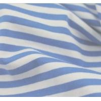 Best 100% cotton yarn dyed Navy Blue and White stripe fabric wholesale