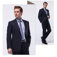 China Breasted Woolen Cloth mens wedding suits Slim commercial formal summer coat on sale
