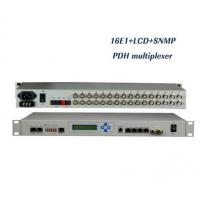 Best 16E1 PDH Optical Multiplexer with LCD display, 1+1 fiber, 4 Ethernet ports, SNMP+Console wholesale