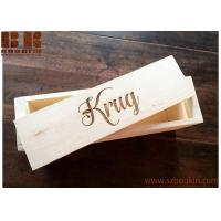 Buy cheap Wooden Wine Box Personalized Rustic Wood Wine Box, Wedding and Anniversary Gift from wholesalers