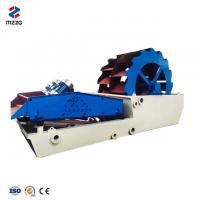 Best Bucket Wheel Sand Washing Machine Blue White Color Long Lifespan For Silica Sand wholesale