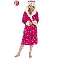 China Funny Design Animal Hooded Bathrobe Fluffy For Girls Cartoon Character Embroidery on sale