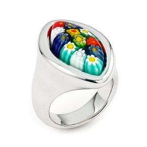 China CZ A bridal murano 925 silver / glass birthstone marcasite aquamarine jewelry rings on sale