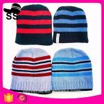Best 2017new style16*17cm Animal Beanies cap keep warm107gMan Monster Stripe Critter 100%Polyester  Winter Knitting hats wholesale