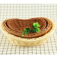 Best PP Weaving Rattan custom size round storage wicker fruit basket tray wholesale