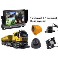 Best Lorry 4 Security Camera Car DVR AHD 3G GPS WIFI Quad Monitor System wholesale