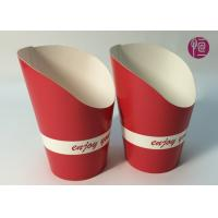Buy cheap 9oz Height 120mm French Fries Cup , Double PE Coated Hot Chip Cup product