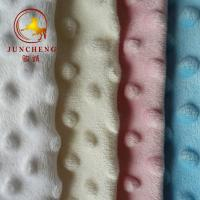 Best 100% polyester soft skin friendly embossed minky dot velvet fabric wholesale
