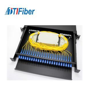 China Distribution Patch Panel Fiber Optic Terminal Box 24 48 96 Ports LC SC 19' Rack Mount on sale