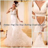 Best 2012 Handmade Ruffled Beaded Sequins A-Line Wedding Gown (BS-038) wholesale