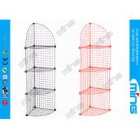 China Customized 4 Tiers Mini Grid Display Panels Stand Welded Wire Display Shelf wholesale