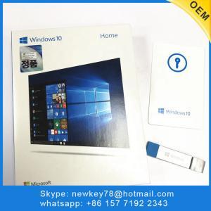 China Genuine Korean Microsoft Windows 10 Home fpp / OEM Software download 64 bit USB license activation win 10 home on sale