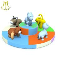 Best Hansel  soft outdoor playground equipment for kid animal carousel wholesale