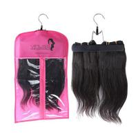 Best Custom pvc hair extensions carrier hair extension hanger bags.Size 29CM*65CM.Material is PVC and  woven wholesale