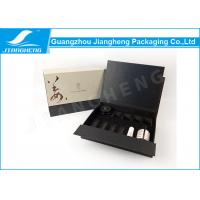 China Biodegradable Black Paperboard Packaging Box Luxury For Cosmetic Gift Set on sale