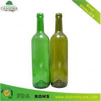 Best 750ml Emerald Green & Anti-green Glass Bottle for Red Wine wholesale