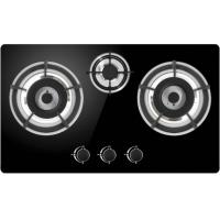 China Knob Control Gas Cooker Hob , Black Built In Gas Hob With High Security on sale