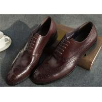 Best Narrow Style Mens Leather Oxford Shoes , Comfy Modern Office Mens Shoes wholesale