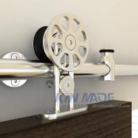China Stainless Steel Sliding Barn Door Hardware Top Mounted Barn Hanger Track, Silver on sale