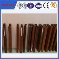 China 6000 Series wood look aluminum rectangular tube / aluminium square pofiles on sale
