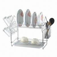 Best Chrome-plating iron wire kitchen rack, tough durability wholesale