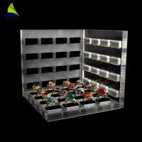 Best 3mm Acrylic Jewelry Display Jewelry Display Rack Black Single Acrylic Finger Ring Holder wholesale