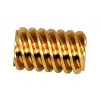 Cheap Customized Small Brass Pinion Gear 4 Lead DP 48 C36000 For Gear Motor for sale