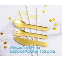 China paper folk, paper knife, paper spoon, paper straw, paper cultery, paper party supplies, paper plate, paper bowl, paper on sale