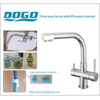 Best Chrome three way kitchen faucet for home RO water wholesale