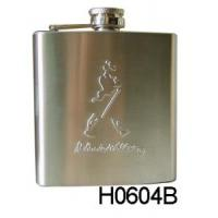 Best 6oz New Hip Flask Set with Leather (H0604B) wholesale