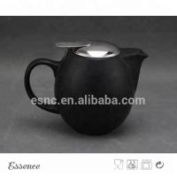 China Ceramic Teapot With Stainless Steel Lid And Strainer Stoneware Type on sale