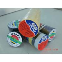 Glossy Rubber Based Adhesive PVC Electrical Tape Black / Red / Green Shiny Film