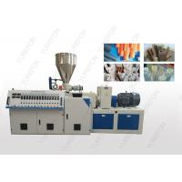 China Stable Conical Double Screw Extruder Machine With Chromium Plated Barrel on sale